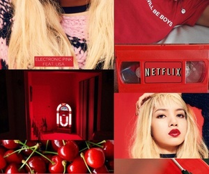 aesthetic, lisa, and red image