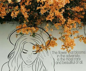 draw, girl, and flowers image