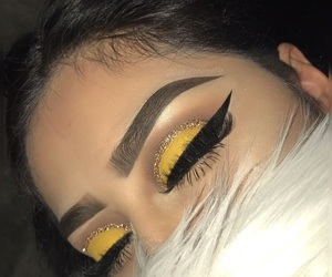 eyebrows, makeup, and eyeshadow image