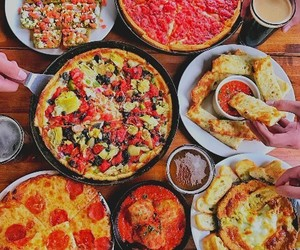 delicious, food, and pizza image