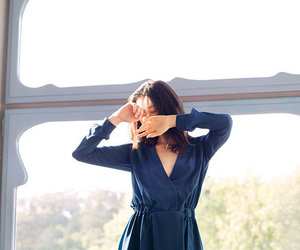 fashion, navy blue, and style image