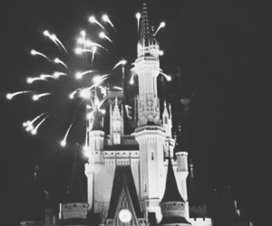 castle, black, and disney image