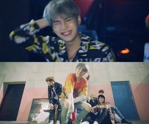 bts, fire, and kpop image