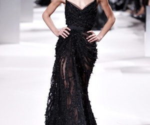 elie saab, black, and dress image