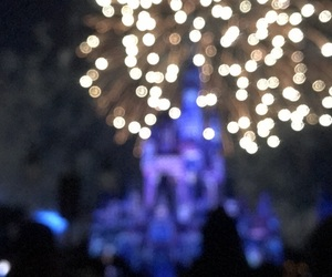 blur, disney, and fireworks image