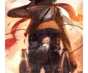 shingeki no kyojin, anime, and mikasa image