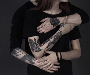 girl, black, and tattoo image