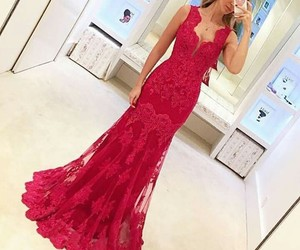 party dress, red dress, and dress style image