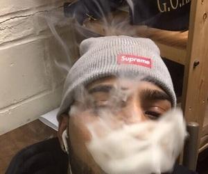 supreme, boy, and smoke image