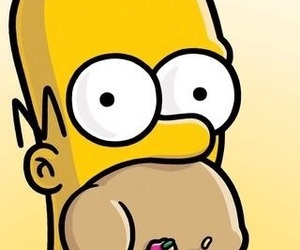homer, donut, and simpsons image