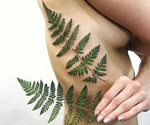 body art, tattoo, and nature tattoo image