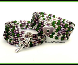 made in the usa, memory wire bracelet, and lock bracelet image