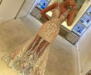 dresses, girl, and golden image