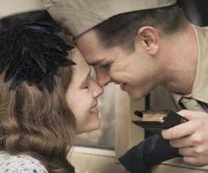 couple, movie, and soldier image
