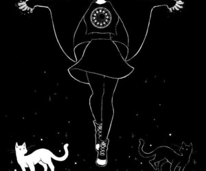 witch, cat, and black image