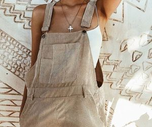 fashion, overalls, and suede image