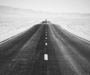 road and alone image