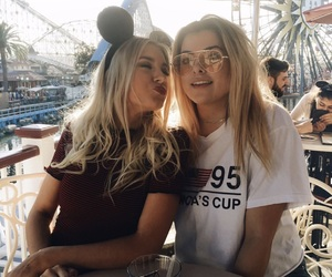 disney land, friend, and girl image