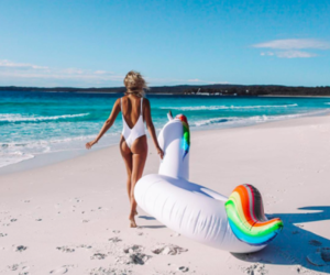 summer, beach, and unicorn image