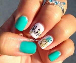 nails, pineapple, and verde image