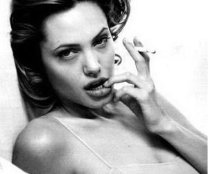 Angelina Jolie, lips, and Nude image