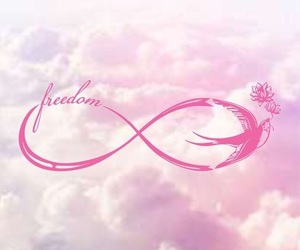 infinity, freedom, and pink image