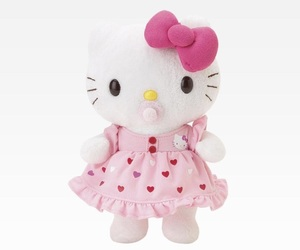 pink, stuffie, and baby toy image