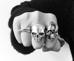 accesories, black and white, and jewelry image