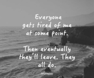 sad, quotes, and leave image