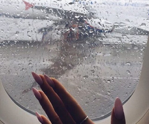 rain, nails, and travel image