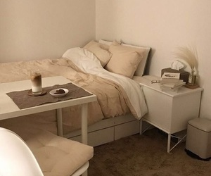 bedroom, beige, and photography image