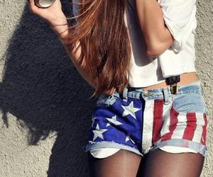 girl, shorts, and hair image
