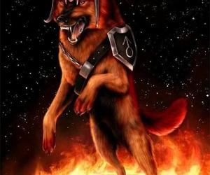 dog, fantasy, and mars image