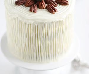 cake, white, and food image