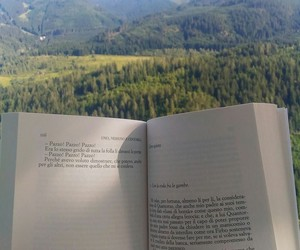 book, nature, and ouside image
