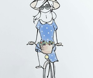 bike, hat, and summer image