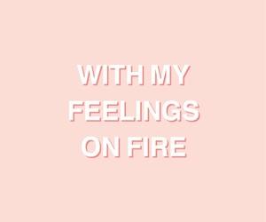 Lyrics, peachy, and pink image