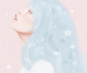 girl, art, and pastel image