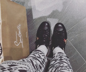 christian louboutin, gucci, and rich life image