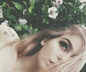 cute girl, flowers, and tumblr image