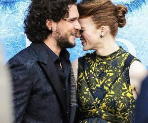 couple, kit harington, and rose leslie image