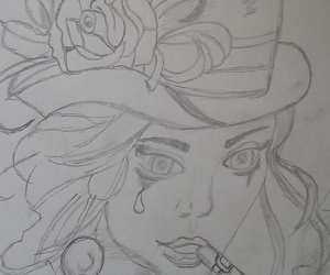 redraw and girl. look image