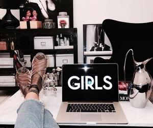 fashion, girl, and interior image