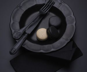 black and food image