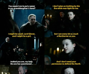 stark, davos, and game of thrones image