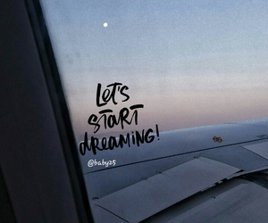 airplane, moon, and quotes image