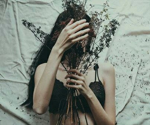 body, flowers, and grunge image