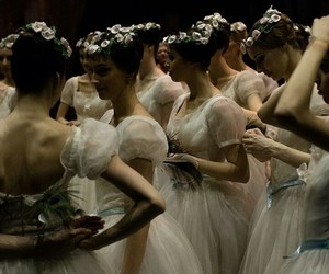 ballet, dress, and flowers image