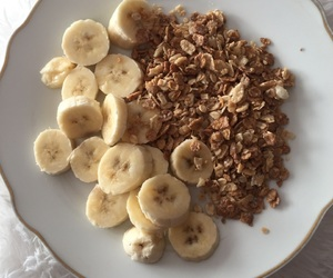 banana, morning, and food image