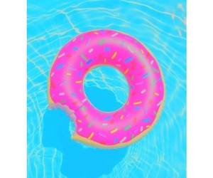donut, pool, and love image